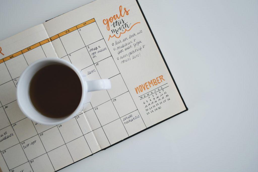 set a deadline - coffee with datebook